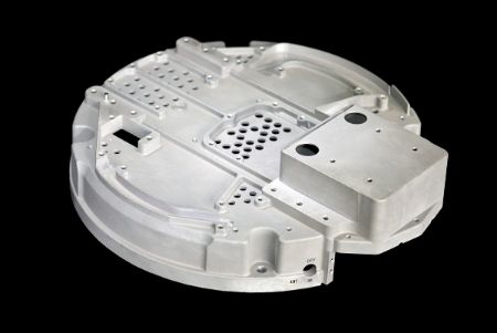 Thin Wall Aluminum Die Cast component with many detailed, precision holes and curves